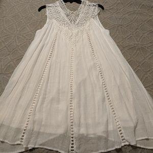 White Crochet Lace Tunic Top/Dress